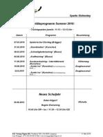 Aktivitätsprogramm Sommer 10