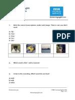 Pronunciation Quiz 1