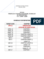 Principles of Teaching Reporting Sched