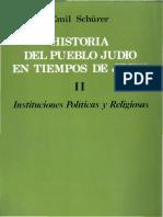 Historia Del Pueblo Judio en Tiempos de Jesus Tomo II