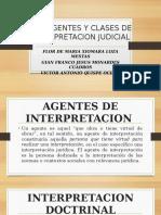 Los Agentes y Clases de Interpretacion Judicial