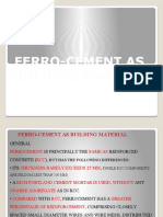 Fero-cement as Bldg. Mat.