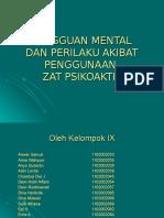 Gangguan Mental Dan Perilaku Akibat Penggunaan Zat Psikoaktif