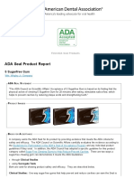 ADA Seal Product Report