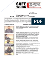 Office Ergonomics - Neck and Shoulder
