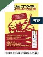 Forum Citoyen France-Afrique