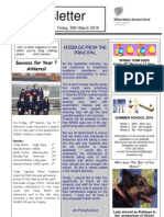 Newsletter 5 _ 26 March 2010