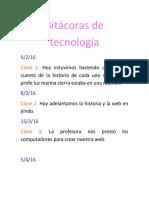Bitácoras de Tecnología