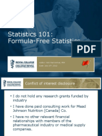 Statistics101-Formula Free Statistics July16 2012
