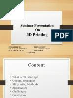3D Printing Ppt