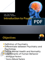 01 Introduction to Psychiatry