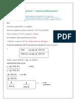 Assignment 1 - Engineering Measurement-Anandababu N