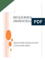 Educação Musical Através Do Teclado - Maria de Lourdes Junqueira