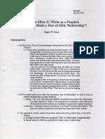 Belief in Ellen G. White as a Prophet