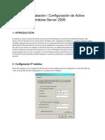Manual Instalacion y Configuracion de Active Directory