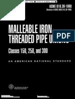 ASME B16 39-1998 | Pipe (Fluid Conveyance) | Mechanical Engineering