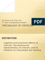 Psychology of Criticism