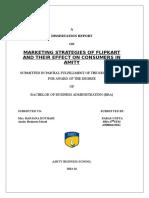 Dissertation Report Flipkart (Marketing Stategies)