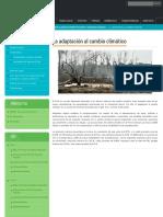 La Adaptación Al Cambio Climático _ Dirección General de Cambio Climático, Desertificación y Recursos Hídricos