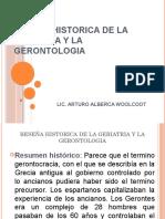 Reseña Historica de La Geriatria