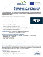Curso de Organización y Proyectos de Instalaciones Solares Térmicas (Presencial)