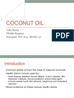 coconut oil presentation