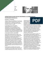 Estructura de Una Escuela Destinada a La Formacion de Psicologos Sociales 2014