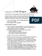 petition to the shogun summative assignment