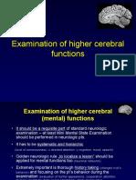 Examination of Mental Functions