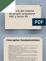 Herencia Del Sistema de Grupos Sanguíneos ABO y Factor Rh