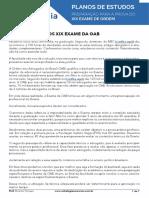 Plano de Estudos Estratégia OAB