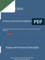 Presentación estado de implementación gratuidad