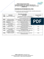 Cronograma de Ativ. Pibid Ed Física