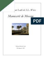 Leopold Silvius Weiss Manuscrit de Moscou