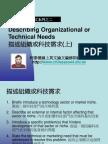 2.Describing Organizational or Technical Needs 描述組織或科技需求(上)