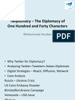 Twiplomacy- The Diplomacy of 140 Characters