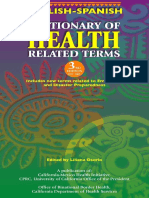 English-Spanish Healthcare Dictionary (6203537A)