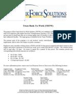 Texas Back to Work Fact Sheet