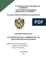 Ejemplo Monografía de Investigación. UNSCH