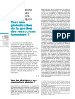 Vers Une Globalisation de La GRH