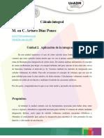 Planeación de La Unidad 2. Cálculo Integral
