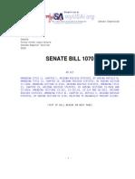 State of Arizona Senate Bill SB1070