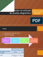 Como Interpretar Un Artículo de Prueba Diagnóstica