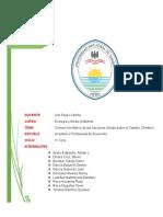 Convenio Marco de Las Naciones Unidas Sobre El Cambio Climático ( Trabajo Final Ecología)