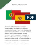 Diccionario Gastronomico Portugues