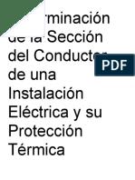 Determinacion de La Seccion Del Conductor de Una Instalacion Electrica y Su Proteccion Termica