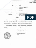 Order for Judge Wright's Recusal