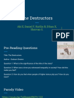 Powerpoint of The Destructors by