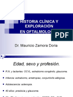 Historia Clinica Oftalmologia