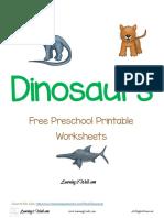 Free Preschool Printable Worksheets Dinosaurs